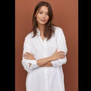 H&M Oversize White Button Up Shirt